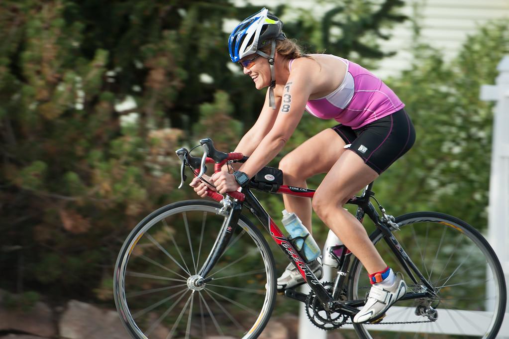Jordanelle Triathlon Happy Cyclist