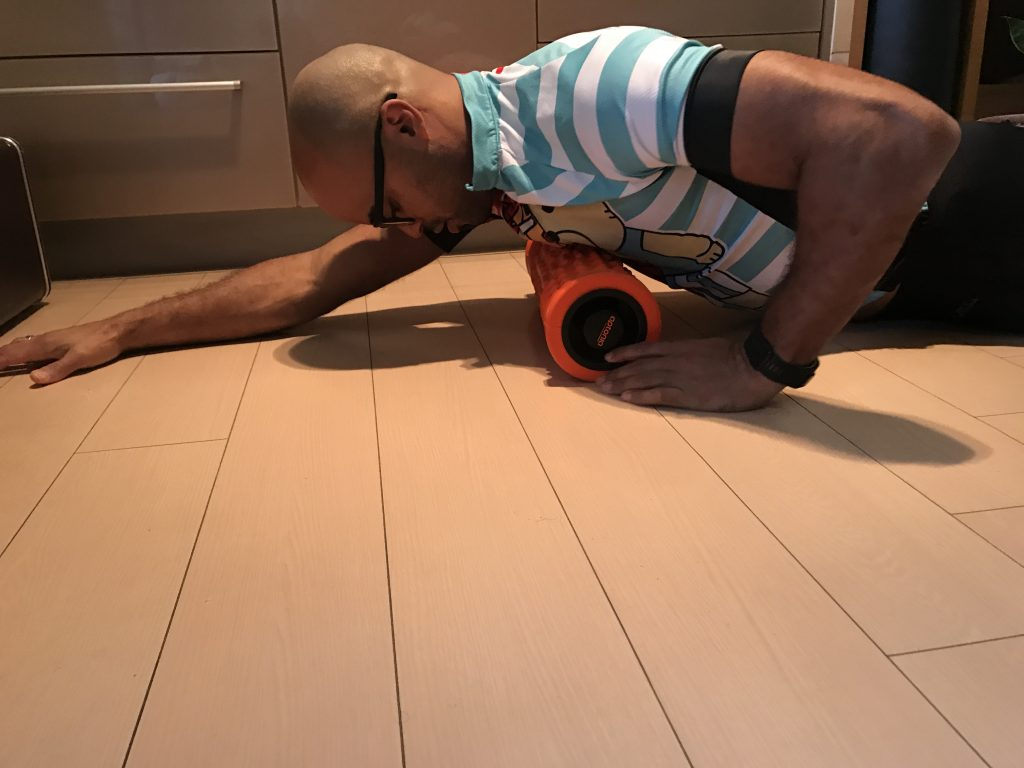Pec Stretch on Foam Roller - Horizontal Lower Pec