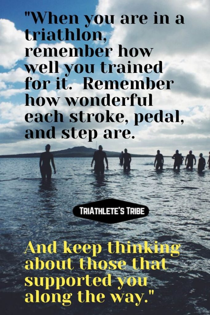 Triathlon Think of Those Who Helped
