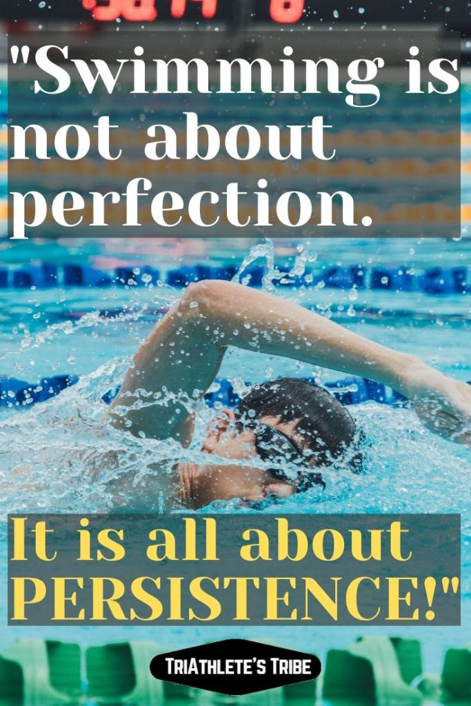 Swimming Quotes - Persistence